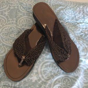 Olivia Miller Woven Mesh Thong Sandal